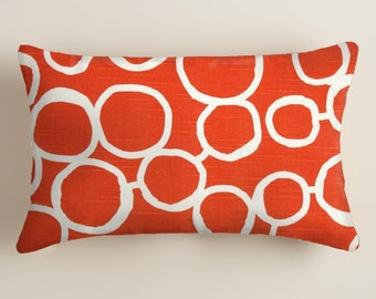 PILLOWS -  orange - Lumbar  Decorative Throw Pillow Cover  -  Accent Pillow Cover  Decor Orange  Cushion Covers  decorative Pillows
