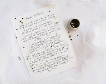 Wedding Vows in Handwritten Calligraphy - Made To Order