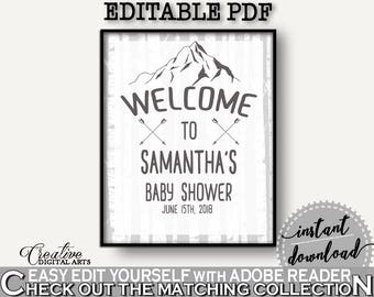 Welcome Sign Baby Shower Welcome Sign Adventure Mountain Baby Shower Welcome Sign Gray White Baby Shower Adventure Mountain Welcome S67CJ