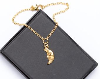 Moon Bracelet | Gold Plated Moon Bracelet | Moon Jewellery |
