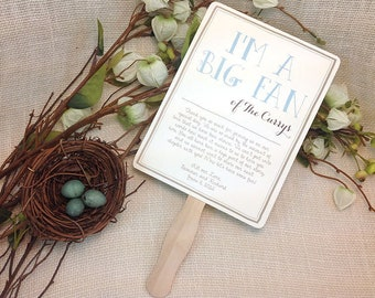 Whimsical Rustic Wedding Program Fan //Outdoor Wedding Program Fan: Get Started Deposit or payment
