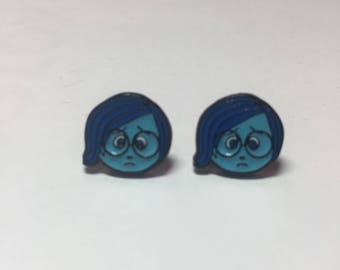 Sadness earrings, Disney earrings, Disney jewelry, Fish extenders, Disney cruise