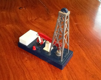 TOY OILWELL Advertising Toy From HUMBLE Oil Co Texas Circa 1960s Non-Operating Rare Collectible