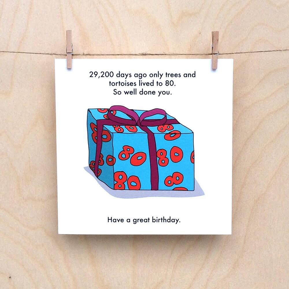 Funny 80th birthday card funny age birthday card funny