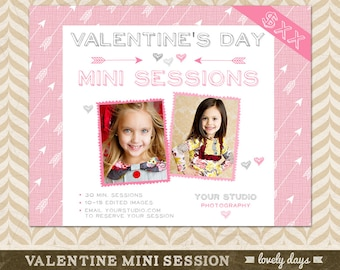 Valentine's Day Mini Session Template Valentine Blog Board for Photographers Marketing INSTANT DOWNLOAD