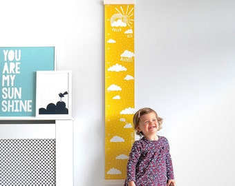 Personalised Dream Big Canvas Height Chart, baby gift, christening gift