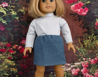 SALE! Eighteen Inch Doll Skirt and Turtleneck