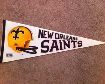 New Orleans Saints Vintage Felt Pennant