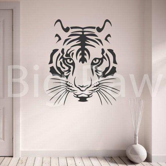 Tiger Head Design Vinyl Wall Art Sticker Decal Living Room Bedroom Hallway
