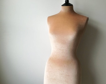 Wedding Dress Display Mannequin Velvet BEIGE Clothes Shop Display