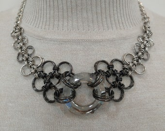 Black Diamond Crystal Chain Maille