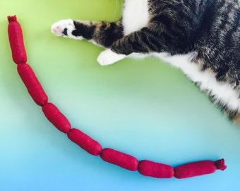 GIANT Catnip Sausage Rope Cat Toy