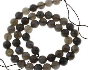 6 Pieces 8mm Labradorite Beads AA Quality