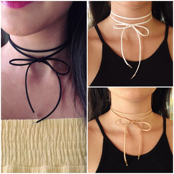 Bow Choker | Double Wrap Choker | Black wrap choker | Suede Choker | Black Bow Choker | Simple Black Choker | Long Wrap Choker