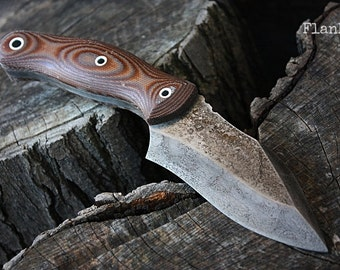 """Handmade FOF """"Flank"""" tactical and survival blade"""