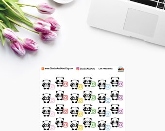 Amanda The Panda ~ SOCIAL Media ~ Planner Stickers CAM PANDA 001