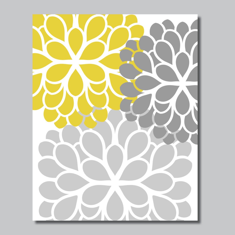 Dahlia Flowers Single Print - Home. Decor. Nursery. Girl. Shown in ...