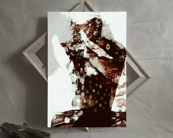 With Nails • Dark Art. Abstract Male Portrait, Figurative Artwork, Wall Art Print. Contemporary Art Prints. Digital Art. Gifts for Him.