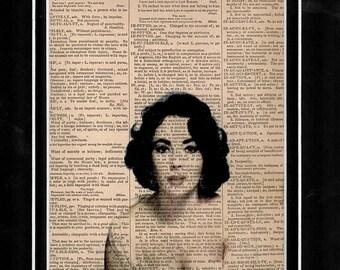 87 Dictionary Art Elizabeth Taylor