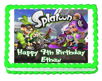 Splatoon party edible cake image cake topper frosting sheet