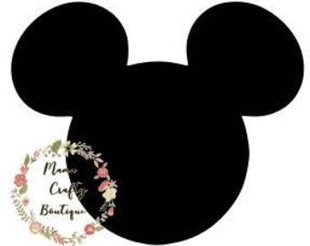 Mickey Head, Disney Shirt, Cricut Design Space, Silhouette, Digital Files, TShirt, Mens, Boys  SVG,PNG,