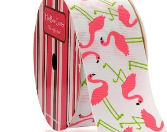 "1.5"" Flamingo Grosgrain Ribbon - 5yds"