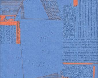Robert Kaufman Carolyn Friedlander Friedlander Plans in Blue Jay - Half Yard