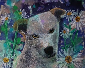 Custom Hand Painted Pet Portrait (12x12) from your photo