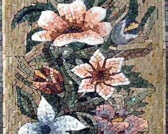L'oeuvre mosaïque de fleur de Lys