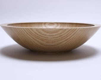 "Ash Wooden Bowl #1697  11"" X 2 7/8""  wooden bowls, wood bowls, hand turned wooden bowl, bowl for popcorn, serving bowl"