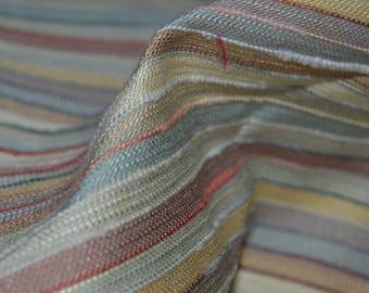 """Multi Color Stripe Home Decor fabric 56"""" Wide"""