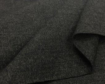 100% Cotton 1x1 Rib- Heathered Charcoal