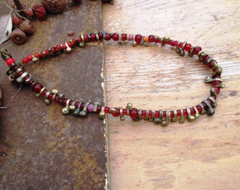 An African style necklace with Fulani Fulani beads .....: Flow of Messages !!!!!