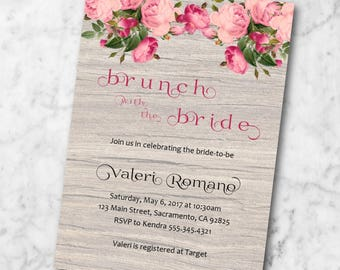 Rustic Roses Party Invitation