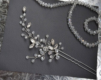 CRYSTAL PIN | Crystal bridal hair pin wedding headpiece bridal hairpiece