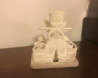1950's Vintage Boy and Girl Napkin Holder and Salt Shaker