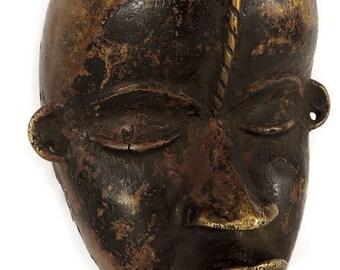 Dan Brass Mask Liberia African Art 113499