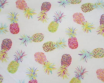 Tropical Pineapple fitted crib sheet. Baby cot sheet, nursery baby bedding. cot sheet. Girls baby bedding.