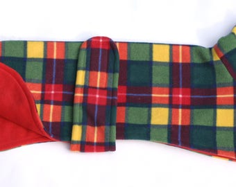 Buchanan Tartan Design Polar Fleece Dog Coat
