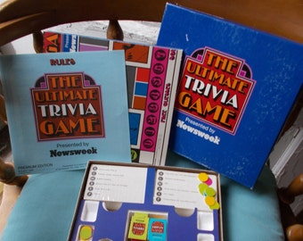 Vintage Newsweek The Ultimate Trivia Game Premium Edition