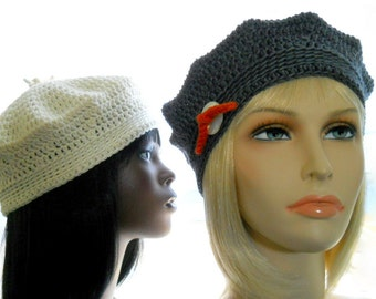 CROCHET PATTERN: The Pointy DK Beanie/Beret, Hat Pattern, Instant Download