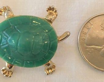 Vintage Turtle Brooch / Pin