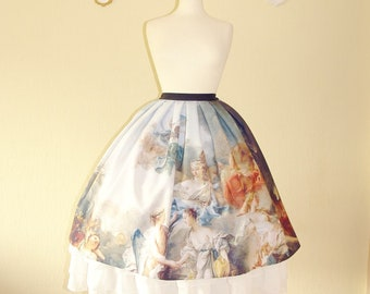 Lolita Underskirt white floral lace chiffon skirt tea length skirt ivory rose lace tall woman skirt classic lolita fashion bridal underskirt