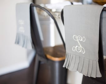 Monogrammed Tea Towel | Ruffled Towel | Monogrammed Kitchen Towel | Housewarming Gift | Hostess Gift | Personalized Gift | Hand Towel