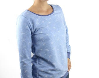 sweater blue white