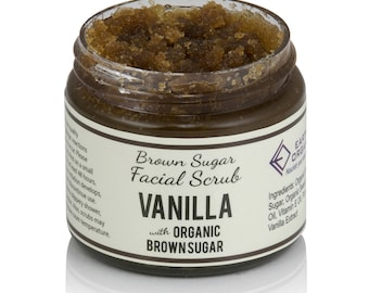 Vanilla Brown Sugar Facial Scrub | Homemade, Organic, All-Natural Sugar Scrub made without chemicals or preservatives