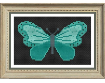 Butterfly cross stitch pattern downloadable pdf
