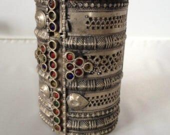Antique Yemeni Tribal Silver Bracelet
