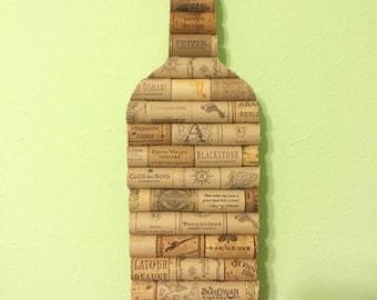 """16"""" wooden wine cork wine bottle"""
