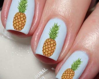Pineapple Grape Fruit Nail Art Water Transfer decal sticker Tattoo 117